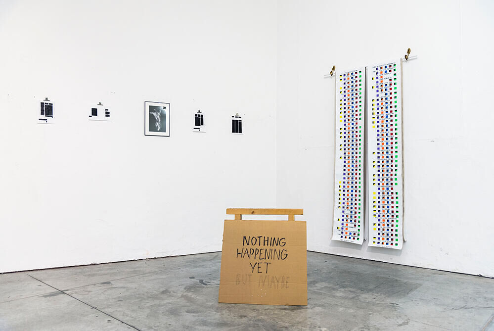 Expositie overzicht Nabuurs & Van Doorn Zwischenlandschaften 3 & Zwischenlandschaften 4, Skinslang, 2019, VIR Viafarini Milaan (IT) (Foto: Valerio Eliogabalo Torrisi)