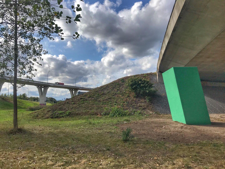 Krijn de Koning, detail van het kunstwerk onder de snelweg bij De Hogt, fotograaf Krijn de Koning