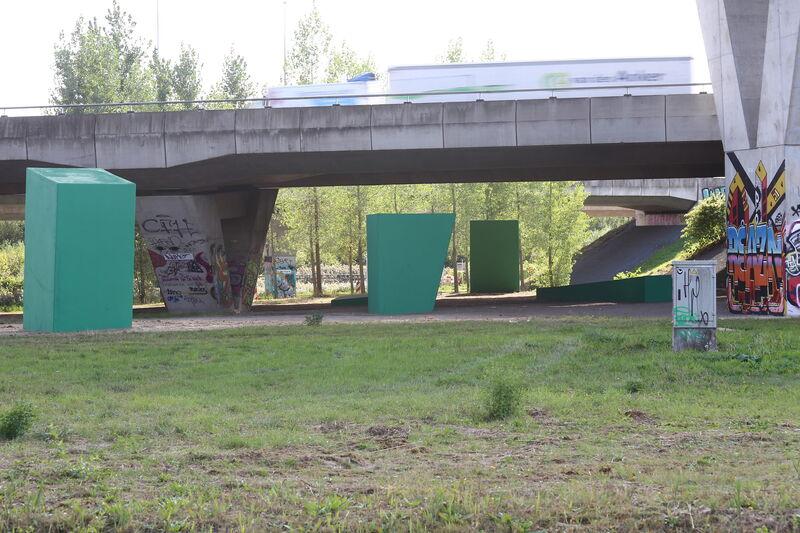 Kunstwerk Groene Passage bij knooppunt De Hogt
