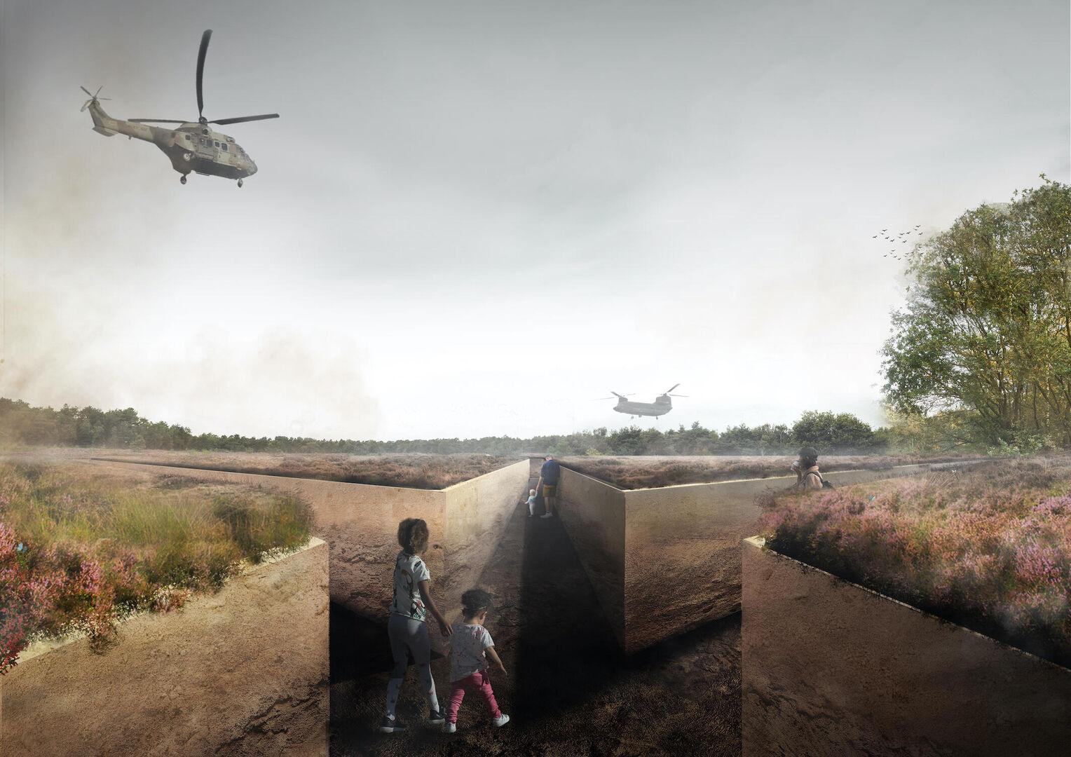 Studio Marco Vermeulen - Loopgraaf voor de Vrede - schets